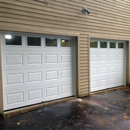 Alton NH garage door replacement (after photo)