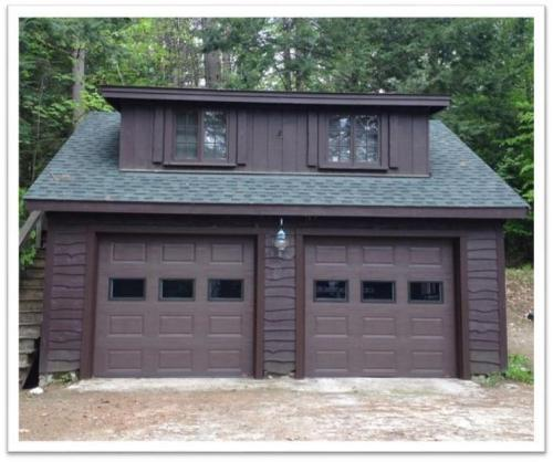 New garage doors installed in Tuftonboro NH.