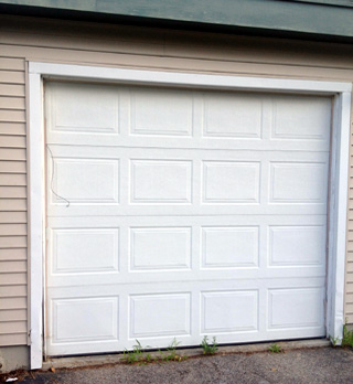 Concord NH garage door replacement (before photo)